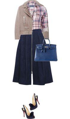 """Jeans skirt"" by perlarara on Polyvore"