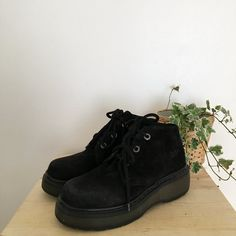 3b6626dc96efe Genuine vintage Made in England Dr Martens. Platform chunky - Depop Suede  Leather