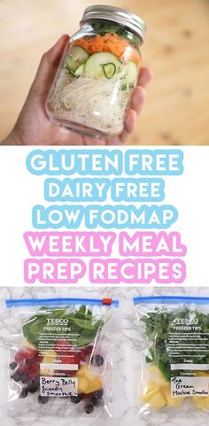 Weekly Meal Prep Recipes: Breakfast, Lunch & Dinner (Gluten Free, Low FODMAP, Dairy Free)
