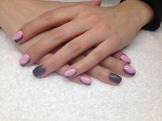 Coffin nails matte blue fresh gel nail art lovely tender pink & gunmetal gel nails my Art Rose, Rose Nail Art, Pink Nail Art, Rose Nails, Gel Nail Art, Classy Acrylic Nails, Pink Gel Nails, Acrylic Nail Shapes, Coffin Nails Matte