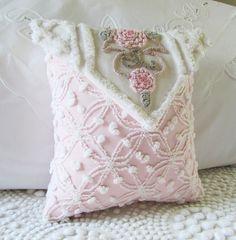 chenille pillow cover 12 X 12 envelope
