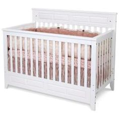 @Overstock - Give your child a bed that lasts through the years with a white lifetime convertible crib. Transitioning from a crib to a toddler bed and finally a full-size bed, this piece offers exceptional value and beauty that complements nearly any bedroom decor.http://www.overstock.com/Home-Garden/Matte-White-Logan-Lifetime-Convertible-Crib/5999949/product.html?CID=214117 $219.00
