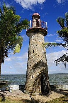 Rock lighthouse in Cuba