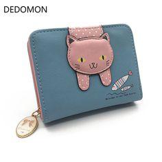 4b232187d47a4 Women Cute Cat Wallet Small Zipper Girl Brand Designed PU Leather Coin  Purse Female Card Holder Billetera Brand Name:DEDOMON Main Material:PU  Gender:Women ...