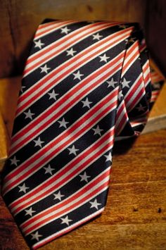 Old Glory | American Flag Necktie | Battle Flag Series No. 3  http://buffalojackson.com/tie-americanflag-necktie-battle-flag.html