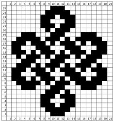 Intricate or Simple – The Celtic Knot Pattern - Loom Knit Central Loom Knitting Stitches, Double Knitting Patterns, Fair Isle Knitting Patterns, Celtic Patterns, Knitting Charts, Free Knitting, Viking Pattern, Tablet Weaving Patterns, Celtic Cross Stitch