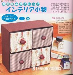 Find out how to make this little set of drawers from Tetra Pak cartons