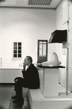 ARTIST: Julian Wasser TITLE: Marcel Duchamp, Duchamp Retrospective, Pasadena Art Museum DATE: 1963 MEDIUM: recent gelatin silver print SIZE: h: 10 x w: 8 in