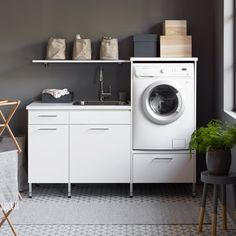 Laundry Room Cabinet Ideas With Blue, Green And Gray Colors 10 Fresh Design Ideas For A Dream Laundry Room pertaining to Laundry Room Cabinet Ideas With Blue, Green And Gray Colors Kitchen Utilities, Small Laundry Rooms, Laundry Storage, Room Design, Laundry Room Lighting, Dream Laundry Room, Green And Grey, Rooms Home Decor, Room