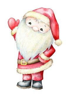 Christmas Illustration, Cartoon Styles, Vintage Christmas, Disney Characters, Fictional Characters, How To Draw Hands, Santa, Teddy Bear, Watercolor