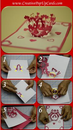 Here is an updated tutorial on making the Valentine's Day Kissing Couple Pop Up Card. This pop up card features a boy and girl in the center of the card, surrounded by a bouquet of flowers. As you open the card, the boy. Diy Happy Mother's Day, Happy Mother's Day Card, Arte Pop Up, Pop Up Art, Valentine Day Kiss, Valentines Diy, Wedding Cards Keepsake, Diy And Crafts, Paper Crafts