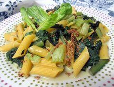 Macarrones con acelgas a la crema #Vegetariano #Vegano