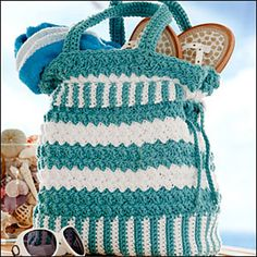 Free Crochet Beach Bags Pattern | CROCHET DRAWSTRING BAG PATTERN ...