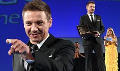 A dapper Jeremy Renner is joined by Game of Thrones' Iain Glenn at Italy's glamorous Taormina Film Festival