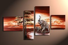 3 Piece Art Sets Hand Painted African Elephant Canvas Paintings Landscape quadro Home Decoration Wall Pictures for Living Room. Category: Home & Garden. Modern Oil Painting, Canvas Painting Landscape, Oil Painting On Canvas, Abstract Canvas, Oil Paintings, House Painting, Painting Frames, Panel Wall Art, Wall Art Sets