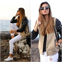 Zero Uv Sunglasses, C&A Jacket, Converse Sneakers