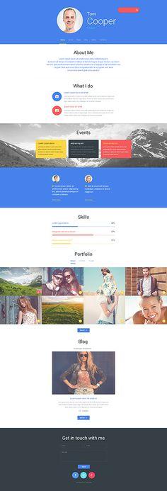 Photographer's Personal Portfolio #Joomla #template. #themes #business #responsive #Joomlathemes