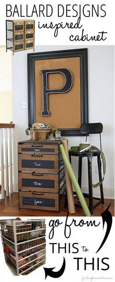DIYBallardInspiredCabinetfromaWireCabinet thumb Craft Room Storage Cabinet (Knocktoberfest!)