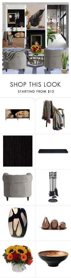 """""""Cozy warmth"""" by suelb ❤ liked on Polyvore featuring interior, interiors, interior design, home, home decor, interior decorating, Collier Campbell, Burke Decor, Gaia and modern"""