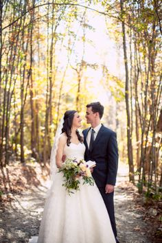 The bride + groom, with their gorgeous looks + stunning venue! ::Katie + Alec's naturally stunning wedding at Spring Lake Events in Rockmart, Georgia:: #springlakewedding #rockmartwedding #brideandgroom #mrandmrs #wedding #photography #forest #romantic
