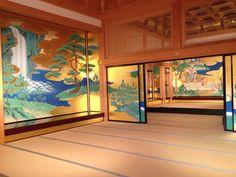 Inside Kumamoto Castle, Japan