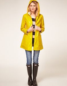 Yellow plastic rainmac - a must have this winter... $50 (pounds)