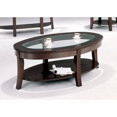 Furniture of America Carline Modern Espresso Coffee Table Espresso