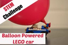 Balloon Powered LEGO Car – Science Sparks Day Camp Activities, Science Activities For Kids, Science Experiments Kids, Science Fair, Science Ideas, Physical Science, Lego Balloons, Balloon Cars, Balloon Powered Car
