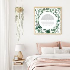 Eucalyptus Ring Ketubah - Fine Art Print for interfaith, reform and orthodox weddings Wall Art Prints, Fine Art Prints, Concrete Texture, Lace Ring, Copper Art, Geometric Circle, International Paper Sizes, Texture Art, Textured Walls