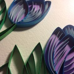 3D Paper Quilling Purple Tuilips by POWpaper on Etsy, $50.00