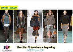 Metallic Color-block Layering #Fashion Trend for Fall Winter 2014 #Trends #Fall2014 #FW2014 #colorblock