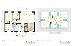 Projekt domu Zacisze IV 107.48 m² - Domowe Klimaty House Plans, Floor Plans, How To Plan, Log Projects, House Floor Plans, Floor Plan Drawing, Home Plans
