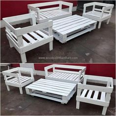 Just have a look at the fantastic appearance of this pallets made patio couch set. This wood pallets patio furniture set is not only good one to place in your garden and outdoor area but also an ideal one to place in restaurants and hotels to meet the furniture needs in an economical manner.  #pallets #woodpallet #palletfurniture #palletproject #palletideas #recycle #recycledpallet #reclaimed #repurposed #reused #restore #upcycle #diy #palletart #pallet #recycling #upcycling #refurnish…