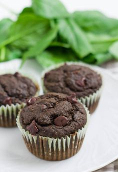 9 desserts packed with secret veggies!  6. Chocolate Spinach Muffins #healthy #dessert #recipes http://greatist.com/eat/dessert-recipes-with-vegetables