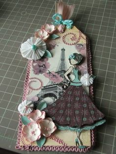 Prima Julia Nutting Doll Stamp tag #2