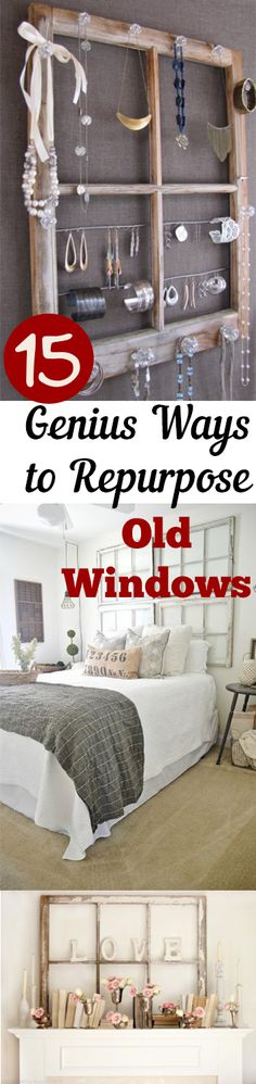 Things to Do With Old Windows, Repurposing Windows, How to Repurpose Windows, Old Windows, Crafting With Old Windows, DIY Home, DIY Windows, DIY Home Decor, Popular Pin.