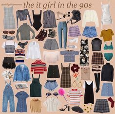 From retro, vintage, and modern. All these kind of styles can perfectly fit in this incredible era, and nowadays too. Retro Outfits, Mode Outfits, Grunge Outfits, Vintage Outfits, 1990s Style Outfits, Hipster School Outfits, Look 80s, Look Retro, Mode Grunge