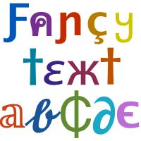 A fancy 🔥 💕 🎁 💯 🌹 cool text generator that helps create stylish text font styles with many different funky beautiful text symbols and fancy characters