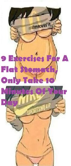 9 Exercises For A Flat Stomach, Only Take 10 Minutes Of Your Day