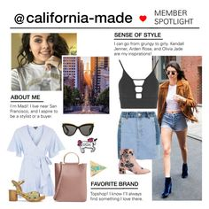 """Member Spotlight: California-made"" by polyvore ❤ liked on Polyvore featuring Topshop and MemberSpotlight"