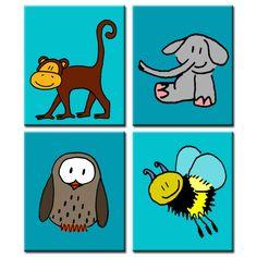 Mix & match: Deze serie is door de ouders samengesteld, en past qua kleur dus precies in de babykamer. Ze hebben zelf de kleuren en ook de dieren gekozen. Kies gewoon je 4 favorieten!