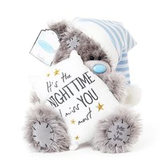 Our Miss You Me to You Tatty Teddy is ready for a cuddle. Order you Tatty Teddy bear online or by telephone for fast UK delivery. Grey Teddy Bear, Cute Teddy Bears, Teddy Pictures, Hug Pictures, Hugs And Kisses Quotes, Teddy Bear Quotes, Blue Nose Friends, Bear Graphic, Good Night Sweet Dreams