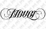 Never / Forget  Ambigram By Mark Palmer