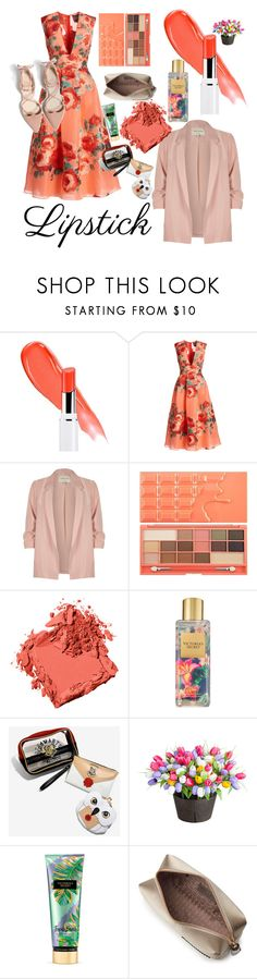 """jingga"" by pinkyteal ❤ liked on Polyvore featuring beauty, Lela Rose, River Island, Bobbi Brown Cosmetics, Victoria's Secret, Improvements and Anya Hindmarch"