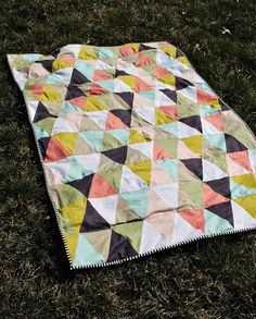 Cute triangle quilt