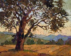 Paso Robles landscape oil painting by modern impressionist Erin Hanson
