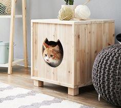 Фото из статьи: Дом для кошки: пусть у зверя тоже будет своё личное пространство