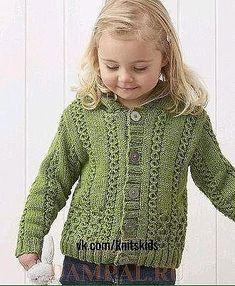 "Chaqueta para la niña ""Bodmin""   OK.RU Sweater Vests, Jackets, Wraps, Manualidades"