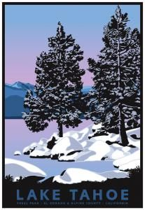 Colorado Canada *FREE S//H* TREE Vintage Ski Poster Switch Plate Tahoe Truckee