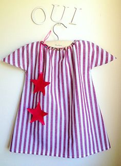 Girls Dress - Toddler Dress - French Style - Sizes for Babies, Toddlers and Girls from 1T to 6Y. $30.00, via Etsy.